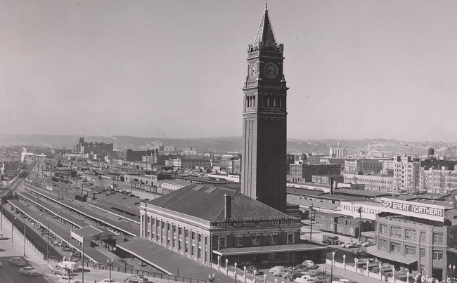 King Street Station, Seattle -- GN PR photo from GN-NP Joint Archives -- all rights reserved